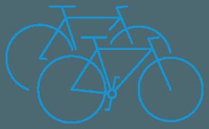 bike rental pictogram blue - Cycle Croatia