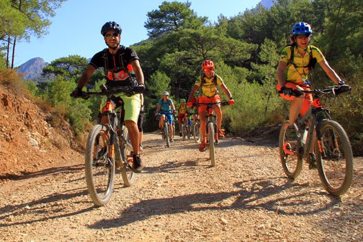 Mountainbiker in der Türkei